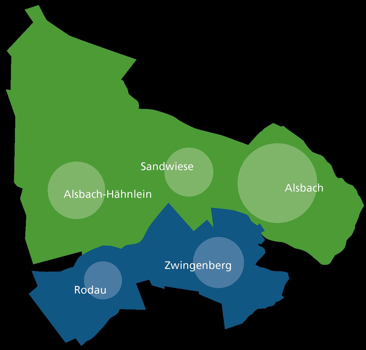 Die Mitglieder des ZKD Zweckverband Kommunale Dienste Alsbach-Hähnlein-Zwingenberg sind die jeweiligen Städte oder Gemeinden, der Sitz ist in Alsbach-Hähnlein.