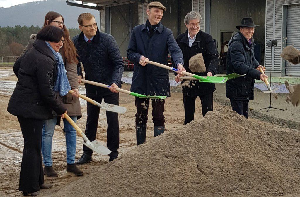 Spatenstich für Bauvorhaben von Alsbach-Hähnlein und Zwingenberg