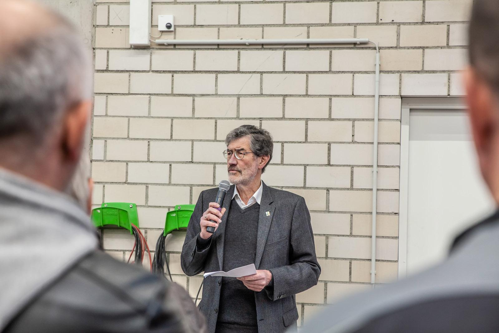 Georg Rausch, Bürgermeister Alsbach-Hähnlein bei der Einweihung ZKD