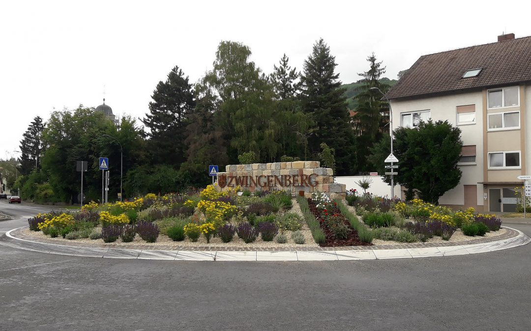 Gestaltung des neuen Kreisels in Zwingenberg