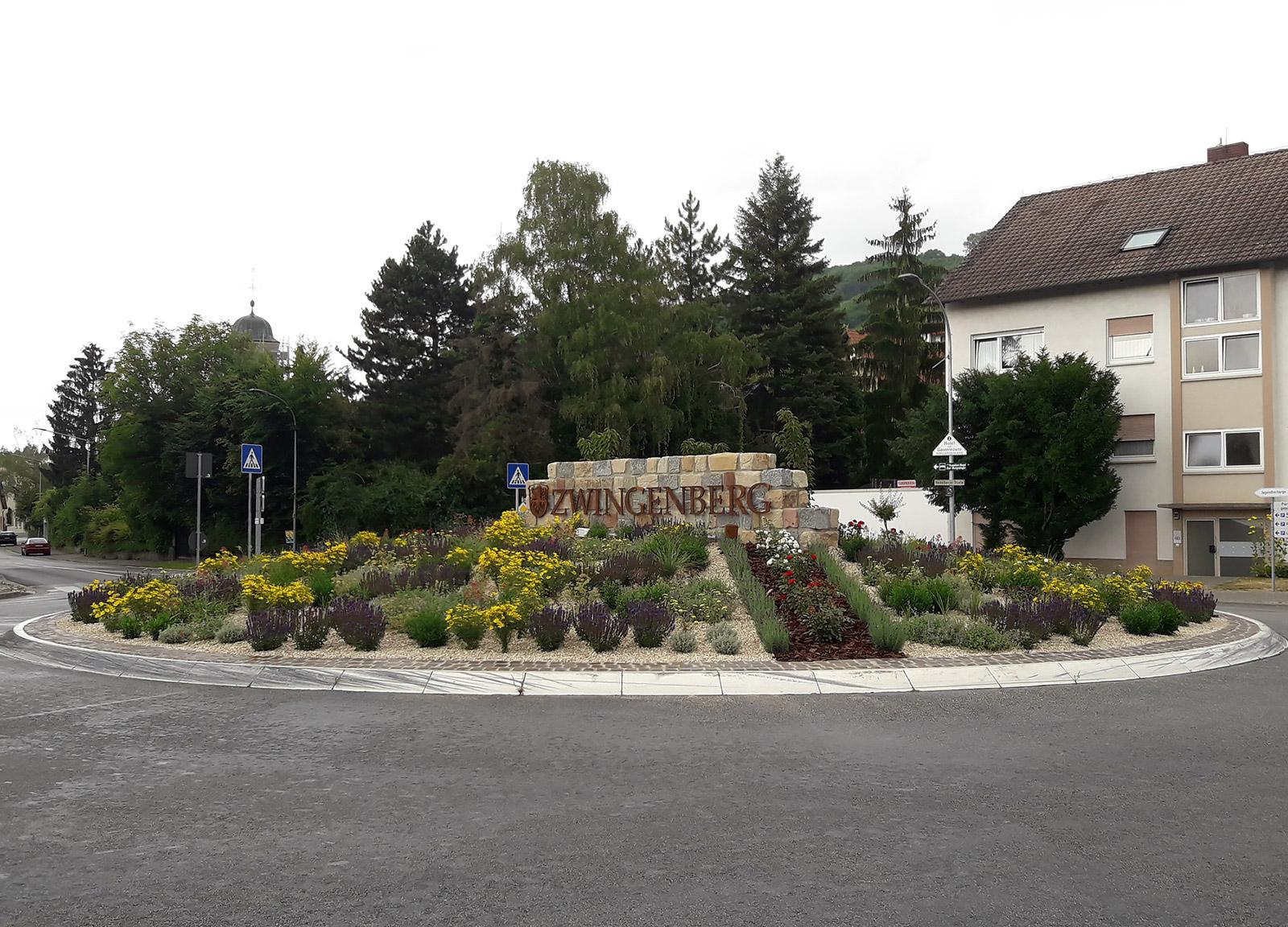Neue Kreiselgestaltung, Zwingenberg